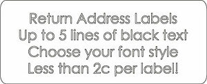 560 x Plain Return Address Labels