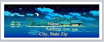 Personalized Address Labels Night Beach Scene Buy 3 Get 1 Free Bo 743