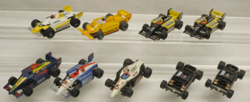 7 Vintage Tyco AFX 440X2 Super G Plus Indy F1 Formula 1 HO Slot Car Lot + bonus