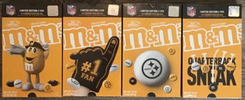 EXTREMELY RARE! NEW!  LOT OF 4 SEALED STEELERS LIMITED EDITION M&M