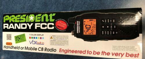 President RANDY 40-channel AM / FM Handheld or Mobile CB Radio BRAND NEW