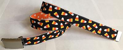 Halloween Candy BELT Buckle Canvas Web Costume Trick or Treat Orange Polka Dots](Dot Candy Halloween Costume)
