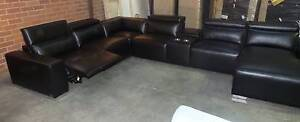 LARGE CORNER MODULAR WITH RECLINER AND ADJUSTABLE HEADRESTS Thebarton West Torrens Area Preview