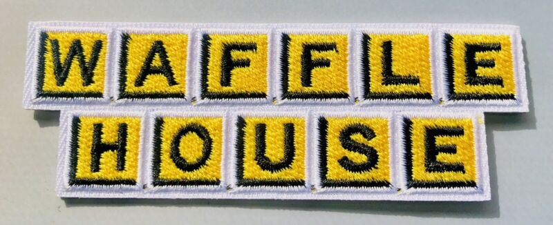 WAFFLE HOUSE Patch Embroidered Iron On Food Employee Uniform Server 🧇 Coffee