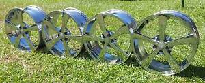 "18"" WHEELS CHROME BSA RIMS 5X100 ET45 PATTERN SUBARU VW TOYOTA Kallangur Pine Rivers Area Preview"