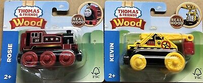 Thomas Tank Engine & Friends Rosie and Kevin Wooden Railway Real Wood