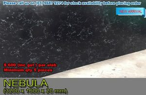 NEBULA BLACK QUARTZ STONE KITCHEN BENCHTOP NEW ARRIVAL Melbourne CBD Melbourne City Preview