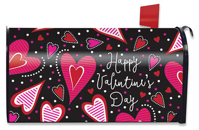 Valentine's Day Mailbox (Dancing Hearts Valentine's Day Magnetic Mailbox Cover Primitive)