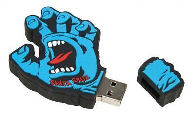 Memory Stick Board - Santa Cruz Skateboard - Screaming Hand Memory Stick USB laptop 8gb skate board