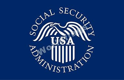 Us Social Security Administration Flag 3X2ft 5X3ft 6X4ft 8X5ft 100D Polyester