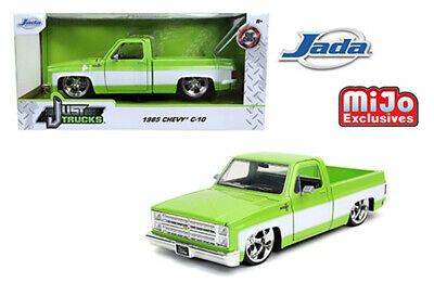 Jada 1:24 Scale 1985 Green/White Chevrolet C-10 W/ Custom Cartelli Wheels 32685