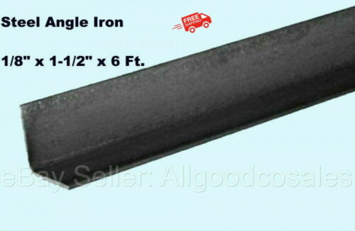 """Steel Angle Iron 1/8"""" x 1-1/2"""" x 6 Ft. Hot Rolled Carbon Steel 90° Stock Mill"""