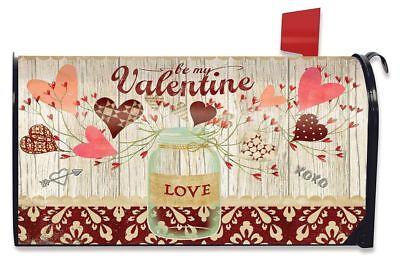 Valentine's Day Mailbox (Lovely Hearts Valentine's Day Large Mailbox Cover Mason Jar)