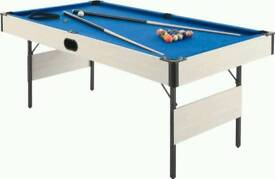 6ft manhattan pool table good condition