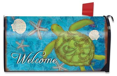 Sea Turtle Summer Magnetic Mailbox Cover Starfish Nautical Briarwood Lane
