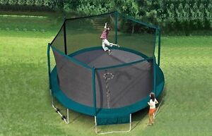 Great Deal 15' Trampoline With Wheels, Safety Enclosure Warranty