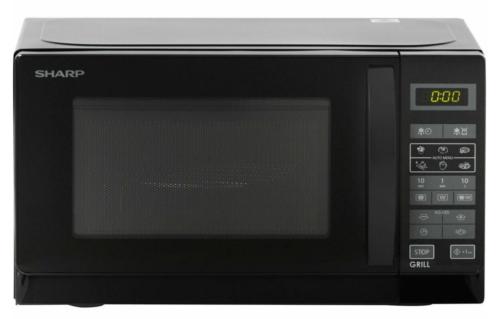 Sharp R642BKW Mikrowelle mit Grill 2 in 1 Schwarz 1000 Watt 20 l Pizzafunkt. NEU