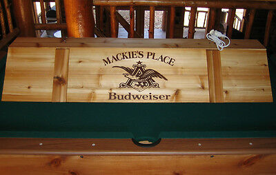 "New Custom Budweiser Pool Table Poker Billiards Light 52"" with your Name!"