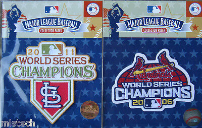 (2) Combo Mlb Patch St Louis Cardinals World Series Champions 2006 + 2011
