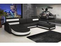 Moderne Wohnlanschaft U-Form Ledersofa Sofa Couch LAGERWARE! Baden-Württemberg - Mietingen Vorschau