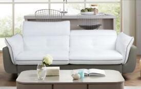 DFS white-grey leather sofa set