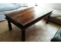 Sheesham Solid Wood Coffee Table with Studs - Excellent condition