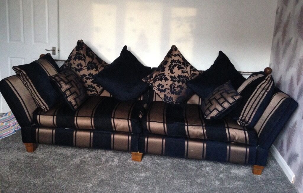 Wade luxury large 4 seater sofa with matching footstool