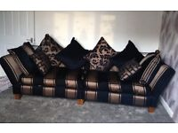 Luxury Wade large 4 seater sofa with matching footstool