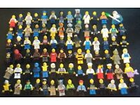 Lego minifigures (136 total) includes chima, movie, series, city etc