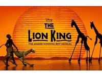 3x The Lion King @ Lyceum Theatre ,tonight the 24th of May @ 7:30pm, Stall seats, R row