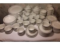 Professional Steelite, Dinner + Breakfast Wares. 12 Plates, 8 Bowls, 8 Soupe Coupes, 2 Teapots etc