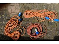 10 meter 16 amp electric hook up cables x 3