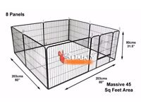 BRAND NEW UNUSED Heavy Duty Modular Puppy or Pet Exercise Play Pen £60