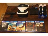 PlayStation VR + Camera + Move Controllers + 5 Games