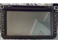 Android double din cb player bluetooth, gps, aux etc. Seat skoda vw.