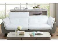 DFS Set leather-3 seater sofa, armchair, footstool