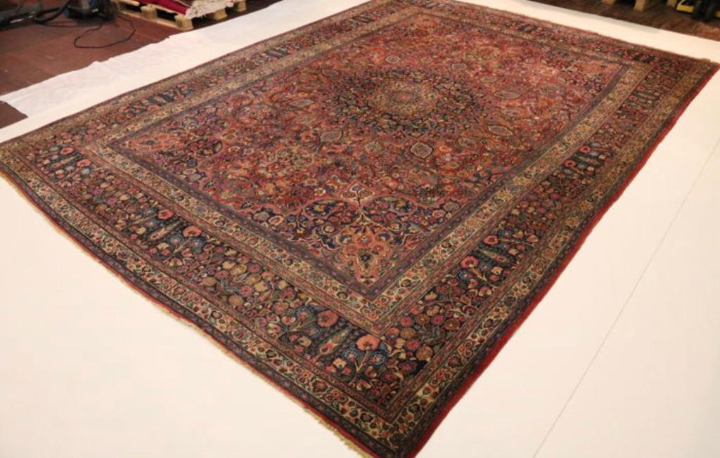 Hand Knotted Persian Rug Reduced Price Oversized Old Mashhad 4 85m X 3 43m In West End Glasgow Gumtree