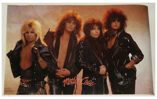 MOTLEY CRUE GROUP POSTER FROM 1987 22.5 BY 34.5 INCHES