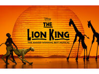 3 theatre tickets lion king musical sat 17th march 19:30 great seats in stalls