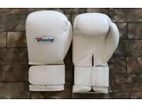 New winning white boxing gloves in all oz