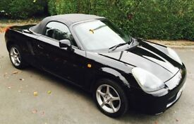 2002 TOYOTA MR2 ROADSTER CONVERTIBLE 1.8 VVTI IN BLACK BREAKING VEHICLE FOR PARTS & SPARES