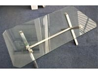 ~ FABULOUS~ Contemporary Glass & Steel Coffee Table (Solid & Heavy)