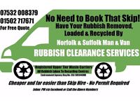 NORFOLK SUFFOLK NO SKIP WE TIP RUBBISH CLEARANCE BECCLES LOWESTOFT YARMOUTH NORWICH HALESWORTH DISS