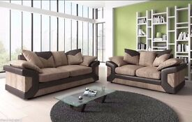 NEW STOCK AVAILABLE == DINO 3 AND 2 SEATER & CORNER SOFA IN BLACK AND GREY COLOR = JUMBOCOARD FABRIC