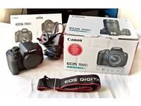 CANON 700D DSLR Digital Camera Body - MINT Condition, sold as new with box and accessories