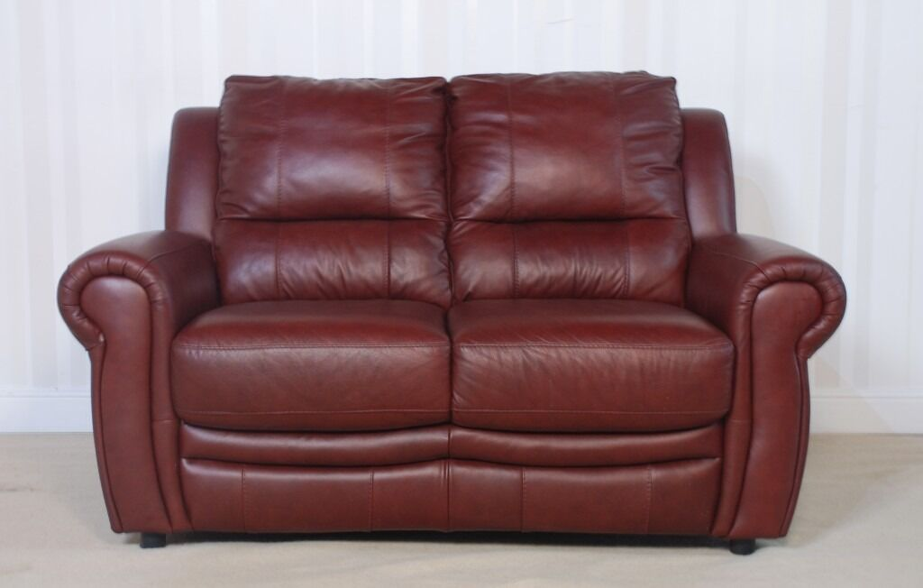 Designer Brown Leather 2 seater sofa (163A349in Rotherham, South YorkshireGumtree - · Revive yourself with timeless, classic leather comfort · Roomy seats, cushioned headrests and angled armrests · Optional manual or power recliners · Lumbar support that's built in · Available in a wide choice of gorgeous colours SOFA OUTLET...