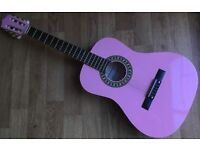 Herald HL34PK 6 String Acoustic 3/4 Spanish Classic Acoustic Guitar Natural Nylon strings - Pink