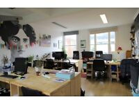 Bright, friendly workspace with affordable desks! Excellent coffee, roof terrace and wifi.