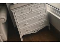 Laura Ashley painted French ornate drawers