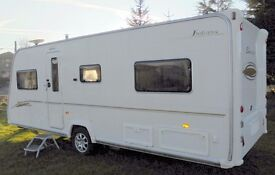 BAILEY SENATOR INDIANA SERIES 5 2007 WITH MOTOR MOVER AND ALKO HITCH CRIS REGISTERED